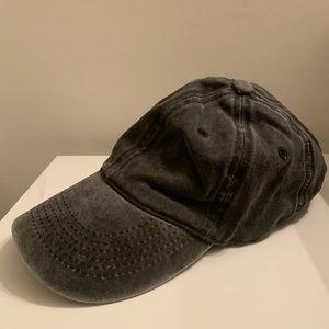 Grey Cotton Baseball Cap